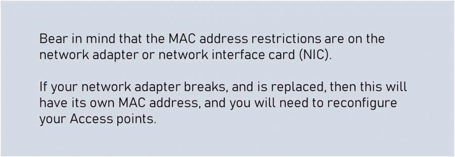 wireless security mac filtering