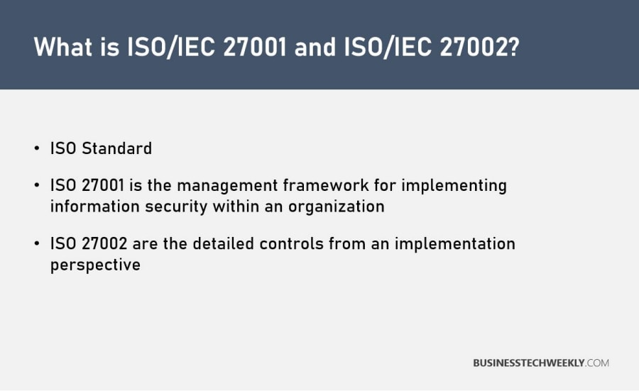 What is ISO 27001 and ISO 27002