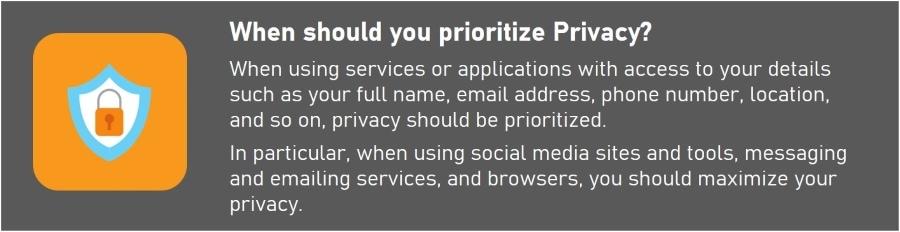 Security vs. Privacy - Prioritizing Privacy vs Security vs Anonymity
