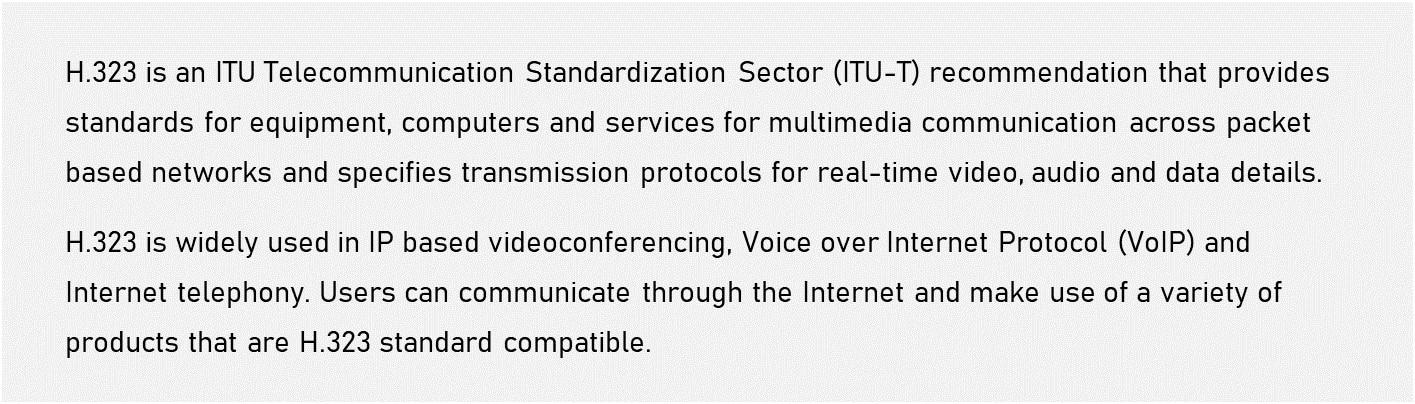 IP Telephony - internet telephony H323