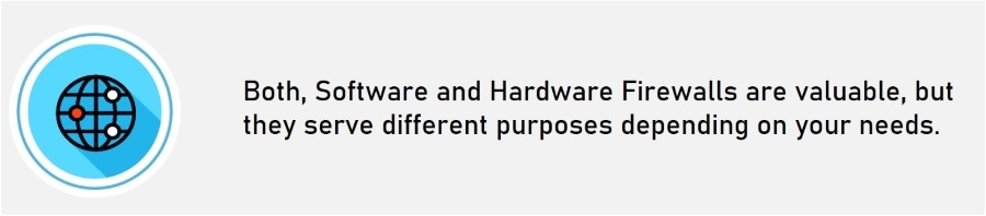 Software Firewall Vs Hardware Firewall differences