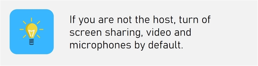 Video Conference Best Practice Tips - Screen Sharing