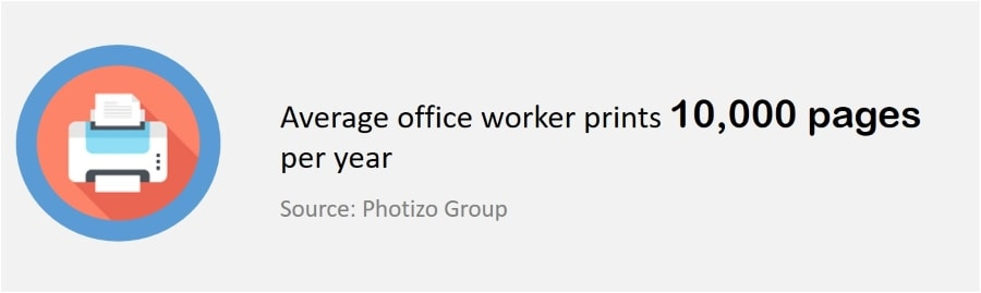 What is a Multifunction Printer (MFP) - Average print per worker